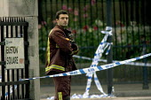 Fireman at scene of London double decker bus destroyed by suspected suicide bomber - Duncan Phillips - 07-07-2005