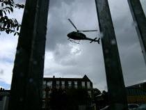 Air Ambulance landing in a car park - Duncan Phillips - 25-08-2005