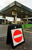 A petrol station lies empty in Glasgow as the fuel crisis takes hold. - Gerry McCann - 13-09-2000
