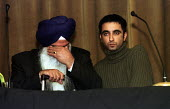 Relatives of murdered Sikh waiter Surjit Singh Chhokar break down at a rally in Glasgow calling for a new public inquiry into his death. His father Darshan Singh Chhokar has withdrawn his support from... - Gerry McCann - 2000s,2001,activist,activists,ASIAN,ASIANS,BAME,BAMEs,bigotry,Black,BME,bmes,break,CAMPAIGN,campaigner,campaigners,CAMPAIGNING,CAMPAIGNS,Chokar,DAD,DADDIES,DADDY,DADS,DEMONSTRATING,demonstration,DEMON
