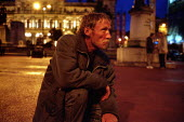 Homeless man collapses, soup kitchen in George Square Glasgow, his illness is caused by heroin use - Gerry McCann - 22-09-2002