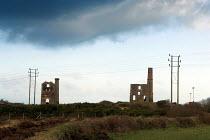 Derelict Tin mines near Camborne, Cornwall - Geoff Crawford - 2000s,2006,Brae,Camborne,capitalism,capitalist,closed,closing,closure,closures,CLOUD,clouds,collieries,colliery,Cornwall,deindustrialisation,deindustrialization,Derelict,DERELICTION,EBF Economy,Indust