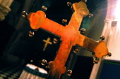 Old and new crosses at St Luke's Church Holloway, London. - Geoff Crawford - 16-02-2003