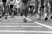 The 1991 London Marathon. Runners cross Tower Bridge. - Geoff Crawford - 21-04-1991