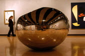 Turning The World Inside Out, A sculpture by the artist Anish Kapoor on display at the Hayward Gallery. The work forms part of the exhibition 'Saved' - 100 Years of the National Art Collections Fund e... - Geoff Crawford - 22-10-2003