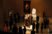 Visitors to The Hayward Gallery viewing works of art by Antonio Canova, Jacob Epstein and Diego Velazquez. The works form part of the exhibition Saved, 100 Years of the National Art Collections Fund e... - Geoff Crawford - 22-10-2003