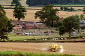 Harvest time near Ross-on-Wye on the English Welsh border - Geoff Crawford - 17-08-2003
