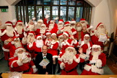 Trainee Santas at the Santa School run by the Ministry of Fun at Southwark Cathedral. Director of Ministry of Fun James Lovell says that the school is the only genuine training centre for professional... - Geoff Crawford - 01-11-2004