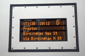 Information panel on Virgin train - Graham Howard - 12-05-2006