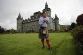 Torquhil Ian Campbell otherwise known as the Duke of Argyll, wearing a kilt and photographed at Inverary Castle, Argyll, Scotland. - Gerry McCann - 2000s,2006,ace culture,AFFLUENCE,AFFLUENT,Bourgeoisie,Campbell,Campbells,Castle,Chief,Chiefs,Clan,class,elite,elitism,EQUALITY,estate,ESTATES,gentry,grounds,high,high income,home,housing,income,INCOME