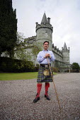 Torquhil Ian Campbell otherwise known as the Duke of Argyll, wearing a kilt at Inverary Castle, Argyll, Scotland. - Gerry McCann - ,2000s,2006,ace culture,AFFLUENCE,AFFLUENT,Bourgeoisie,Campbell,Campbells,Castle,Chief,Chiefs,Clan,class,elite,elitism,EQUALITY,estate,ESTATES,gentry,grounds,high,high income,home,housing,income,INCOM