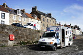 Cellardyke in Fife, where the dead bird found to be carrying Bird Flu was discovered. Police incident van - Gerry McCann - 2000s,2006,adult,adults,carries,carry,carrying,CLJ,dead,eni environmental issues,incident,incidents,MATURE,police,policing,rural,Scotland,Scottish,transport,transportation,transporting,vehicle,vehicle