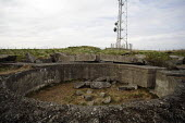 A view from the Elie Chain, on the Fife coast of Scotland. It is thought to be the only Via Ferrata style path in the country. This shows a radio mast and a World War Two gun emplacement. - Gerry McCann - 14-05-2006