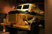 Armoured personnel carrier on display in the Apartheid Museum in Johannesburg, South Africa. - Gerry McCann - 20-04-2005
