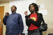 South African trade union members meet in the offices of COSATU in Johannesburg, South Africa. - Gerry McCann - 21-04-2005