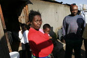 A family in a shanty area in Johannesburg. - Gerry McCann - 24-04-2005