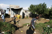 Children playing, in a shanty area in Johannesburg. - Gerry McCann - 24-04-2005