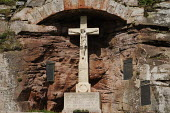 War memorial at Bamburgh Castle. - Gerry McCann - &,2000s,2009,ace art culture arts,belief,building,buildings,castle,castles,christian,christianity,conflict,conflicts,conviction,country,countryside,cross,crosses,crucifix,crucifixes,crucifixion,faith,