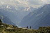 Walkers on the Penken range in Austrias Zillertal region in the Tyrol, Austria - Gerry McCann - 02-08-2009