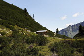 A mountain chalet in Austrias Zillertal region in the Tyrol. - Gerry McCann - 2000s,2009,animal animals,Austria,austrian,austrians,building buildings,country,countryside,eni environmental issues,eu,europe,european,europeans,eurozone,green,hike,hikes,hiking,holiday,holiday maker