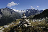Walkers are guided by painted markings and cairns on the Olperer, in Austrias Zillertal region in the Tyrol. - Gerry McCann - 06-08-2009