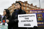 Demonstration over plans to relocate up to 600 families. Asylum seekers and their supporters gathered outside the Govan UK Border Agency (UKBA) HQ against letters which warned them they could be force... - Gerry McCann - 20-11-2010