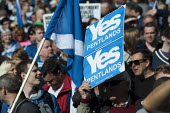 Scottish Independence rally in Edinburgh, Scotland - Gerry McCann - 2010s,2012,Campaign,campaigning,CAMPAIGNS,devolution,flag,flags,independence,march,nationalism,Nationalist,NATIONALISTS,pol,political,POLITICIAN,POLITICIANS,politics,rallies,rally,referendum,Scotland,