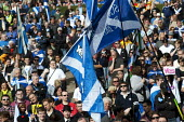 Scottish Independence rally in Edinburgh, Scotland - Gerry McCann - 2010s,2012,Campaign,campaigning,CAMPAIGNS,devolution,flag,flags,independence,march,nationalism,Nationalist,NATIONALISTS,pol,political,POLITICIAN,POLITICIANS,politics,rallies,rally,referendum,Saltire,S
