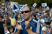 Scottish Independence rally in Edinburgh, Scotland - Gerry McCann - ,2010s,2012,Campaign,campaigning,CAMPAIGNS,devolution,flag,flags,independence,march,nationalism,Nationalist,NATIONALISTS,pol,political,POLITICIAN,POLITICIANS,politics,rallies,rally,referendum,Saltire,