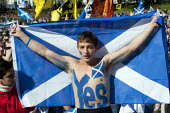 Scottish Independence rally in Edinburgh, Scotland - Gerry McCann - ,2010s,2012,adolescence,adolescent,adolescents,boy,boys,Campaign,campaigning,CAMPAIGNS,child,CHILDHOOD,children,devolution,flag,flags,independence,juvenile,juveniles,kid,kids,male,march,nationalism,Na