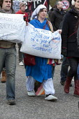 Protesters march through Edinburgh in protest against the Bedroom Tax. - Gerry McCann - 30-03-2013
