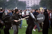 A March and demonstration against the Criminal Justice Bill in Hyde Park, London, turned into a riot - Paul Herrmann - 19941009