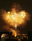 Firework display over Castlefield, Manchester - Paul Herrmann - 19981003