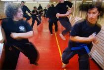 Martial arts training, Wythenshawe leisure centre, Manchester, UK - Paul Herrmann - 04-05-1999