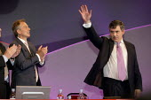 Prime Minister Tony Blair applauds Chancellor Gordon Brown's speech at the 2006 Labour Party Annual Conference, Manchester, UK. - Paul Herrmann - 25-09-2006