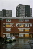 Boarded up housing in Preston, Lancashire - Paul Herrmann - 2000,2000s,ACE,architecture,bad,Beetle,brick,BRICKS,buildings,concrete,condemned,culture,depressing,EQUALITY,estate,ESTATES,excluded,exclusion,grey,HARDSHIP,High Rise,housing,impoverished,impoverishme