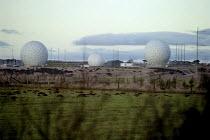 The American early warning radar station in farmland at Menwith Hill, near Harrogate, North Yorkshire - Paul Herrmann - 20-04-2001