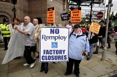Anti-war demo outside Labour Leadership Conference, Manchester, joined by Remploy employees protesting against factory closures - Paul Herrmann - 24-06-2007