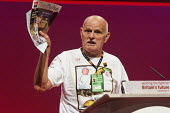 Peter Bagnall of GMB union complains about treatment of Remploy workers at Labour Party Conference 2008, Manchester. - Paul Herrmann - 21-09-2008