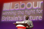 Lovemore Moyo, chair of the Movement for Democratic Change in Zimbabwe speaking, Labour Party Conference 2008, Manchester. - Paul Herrmann - 2000s,2008,britain,Conference,conferences,MDC,Movement,Party,POL Politics,SPEAKER,SPEAKERS,speaking,SPEECH,Zimbabwe