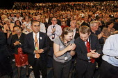 Audience applauds Gordon Brown's speech at Labour Party Conference 2008, Manchester. - Paul Herrmann - 23-09-2008