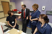 Health Minister Phil Hope MP talks to staff as he opens St Helens Hospital, Merseyside, the 100th hospital scheme built under the 2000 NHS Plan. - Paul Herrmann - 22-10-2008