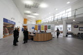 Bright new foyer at newly-opened St Helens Hospital, Merseyside, the 100th hospital scheme built under the 2000 NHS Plan. - Paul Herrmann - 22-10-2008