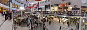 A panorama of Manchester Arndale shopping centre with crowds of Christmas shoppers on a Saturday in late November. - Paul Herrmann - 29-11-2008