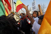 Protestors outside London G20 Summit, Excel Centre. Justice for murdered Ethiopians. - Paul Herrmann - 02-04-2009