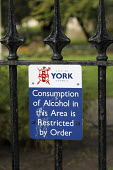 A City of York Council sign reads Consumption of alcohol in this area is restricted by order - Paul Herrmann - 2000s,2009,abstention,abstinence,against,alcohol,alcohol-free,anti,anti social behavior,antisocial behaviour,behavior,behaviour,boozing,bylaw,bylaws,cities,city,CLJ,communicating,communication,Council
