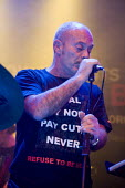 Keith Allen sings at Refuse To Be Beat, a benefit gig organised by Unison and GMB at O2 Academy, Leeds, for striking cleaning and refuse workers at Leeds City Council. - Paul Herrmann - 2000s,2009,academies,Academy,ACE arts culture & entertainment,activist,activists,against,austerity cuts,band,bands,binmen binman,CAMPAIGN,campaign campaigning,campaigner,campaigners,CAMPAIGNING,CAMPAI