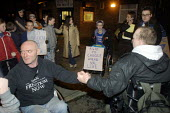 Disabled residents of Burnage, Manchester and activists from DAN the Disabled People's Direct Action Network staged a sit-in at a housing office in protest at the city council's housing provision for... - Paul Herrmann - 19-01-2002