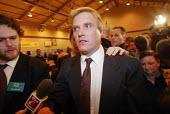 David Edwards BNP declined to talk to the media after winning the first council seat for the British National Party in elections in Burnley, Lancashire - Paul Herrmann - 03-05-2002