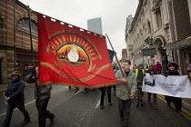 Manchester Coalition Against Cuts march, Deansgate, Manchester; FBU banner - Paul Herrmann - 23-02-2013